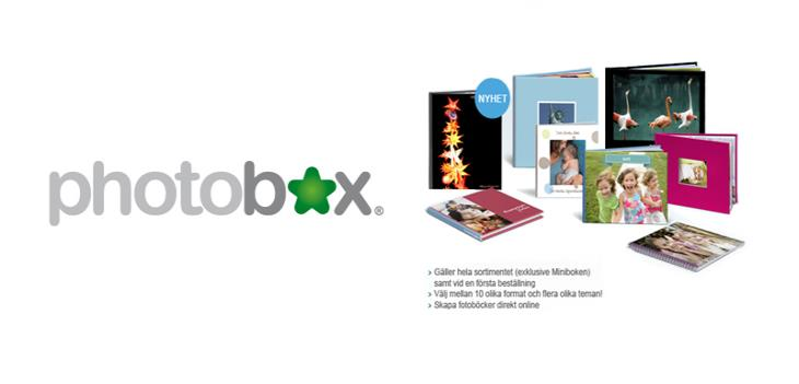 20% rabatt hos PhotoBox!