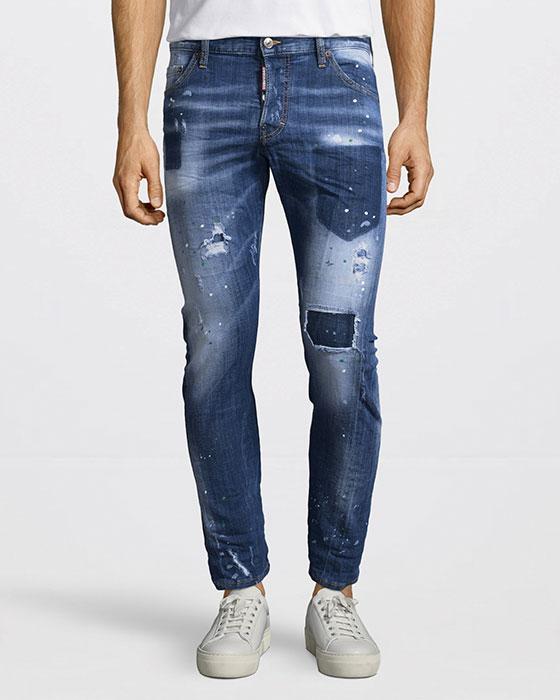 Sexy Twist Slitna Jeans Blå