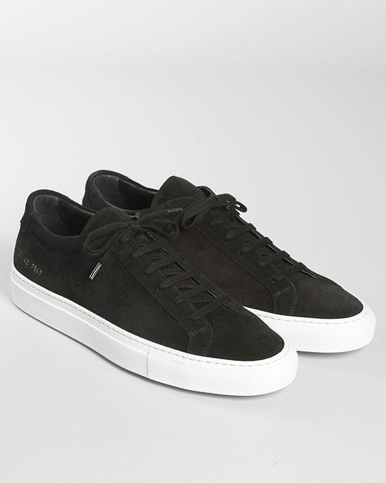 Nubuck Achilles Low Sneakers Svart